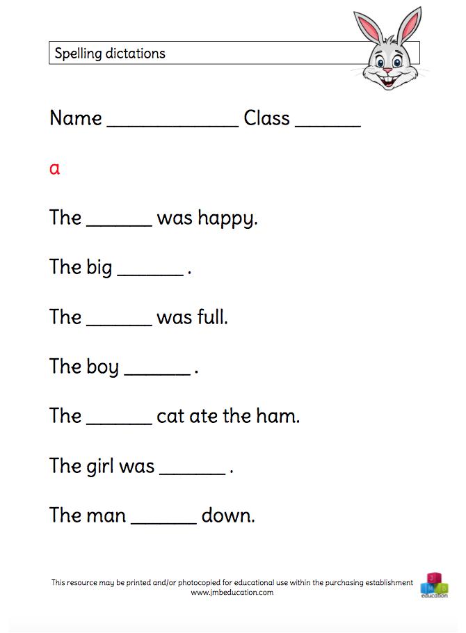 Printable spelling worksheets ks2